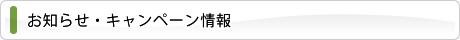 お知らせ・キャンペーン情報