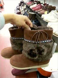 ボア生地ブーツ