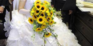 結婚式 ひまわりブーケ
