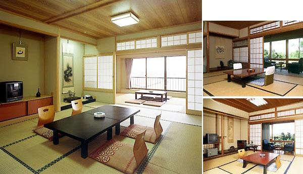 東郷湖の眺望が広がる純和室