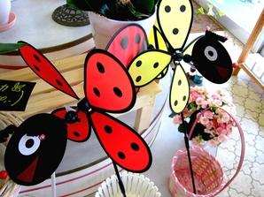 ミツバチとてんとう虫風車