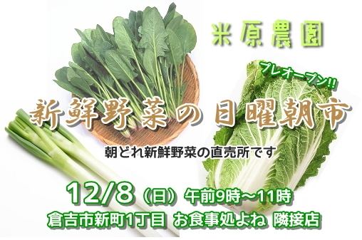 新鮮野菜の日曜朝市